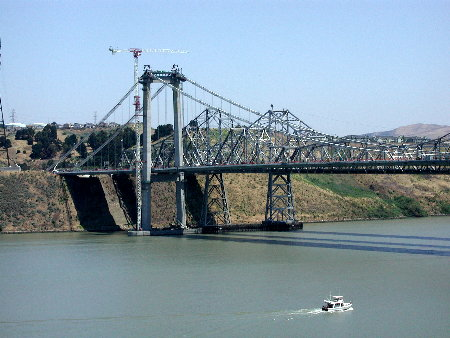 carquinez bridge under construction may 2003
