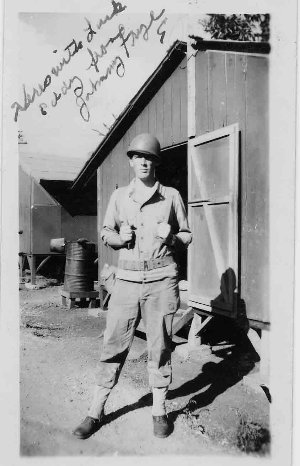 Picture of Johnny Frye, 1944, Scofield Barracks