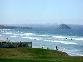 The view from Cayucos, south to Morro Rock