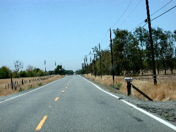 Road south of Marysville, Ca